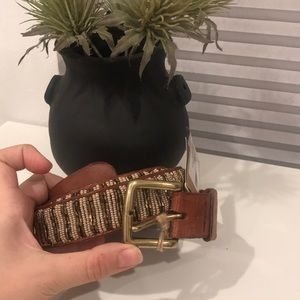 Aspiga Leather Belt Fully Beaded Sz 34